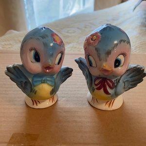 Vintage Bluebird Salt&Pepper Shakers made in Japan